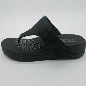 Skechers Womens Retrogrades Thong Sandals Black 8
